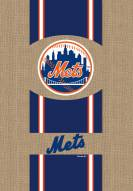 New York Mets Burlap Garden Flag