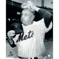 "New York Mets Casey Stengel Ice Bag on Head Signed 16"" x 20"" Photo"