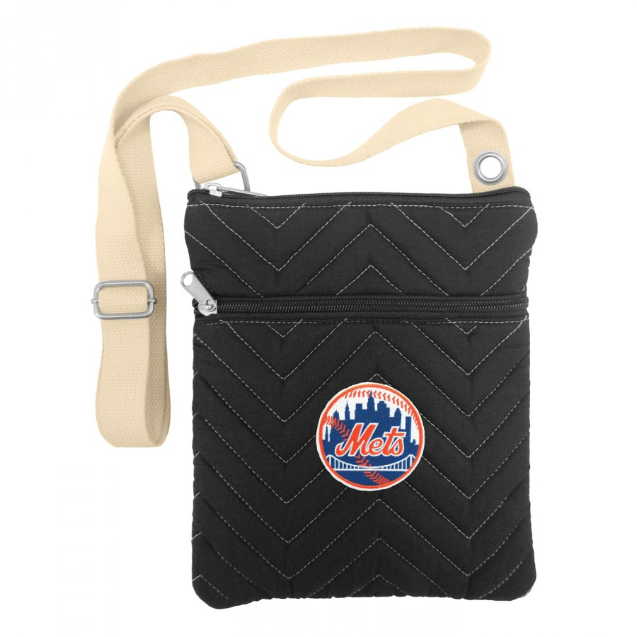 New York Mets Chevron Stitch Crossbody Bag
