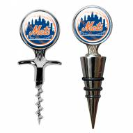 New York Mets Cork Screw & Wine Bottle Topper Set