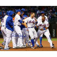 """New York Mets David Wright Celebration After Walk Off vs. Brewers Signed 16"""" x 20"""" Photo"""