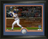 New York Mets David Wright Quote Silver Coin Photo Mint