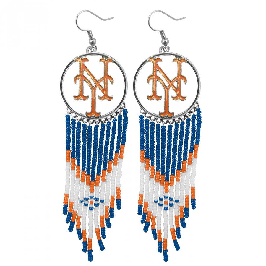 New York Mets Dreamcatcher Earrings