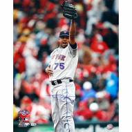 """New York Mets Francisco Rodriguez 1st Save Away Signed 16"""" x 20"""" Photo"""