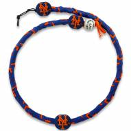 New York Mets Frozen Rope Color Baseball Necklace