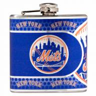 New York Mets Hi-Def Stainless Steel Flask