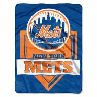 New York Mets Home Plate Raschel Blanket