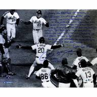 """New York Mets Howard Johnson Crossing the Plate 1986 WS """"Story"""" Signed 16"""" x 20"""" Photo"""