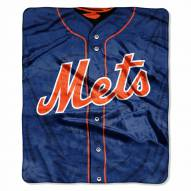 New York Mets Jersey Raschel Throw Blanket