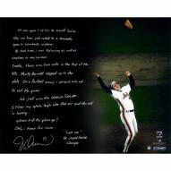 """New York Mets Jesse Orosco Last Out Celebration Story w/ Last Out Signed 16"""" x 20"""" Photo"""