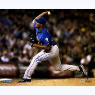 """New York Mets Jeurys Familia Pitching vs. Reds Signed 16"""" x 20"""" Photo"""