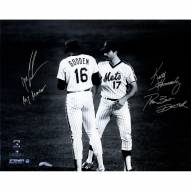 """New York Mets Keith Hernandez & Dwight Gooden Meet At The Mound w/ """"The Best Doctor"""" Signed 16"""" x 20"""" Photo"""