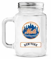 New York Mets Mason Glass Jar
