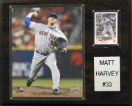 """New York Mets Matt Harvey 12"""" x 15"""" Player Plaque"""