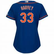 New York Mets Matt Harvey Women's Replica Home Baseball Jersey