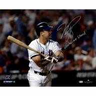 """New York Mets Mike Piazza Game Winning HR w/ """"United We Stand"""" Signed 16"""" x 20"""" Photo"""