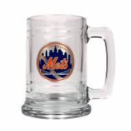 New York Mets MLB 2-Piece Glass Tankard Beer Mug Set