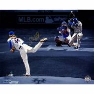"""New York Mets Noah Syndergaard 2015 World Series Game 3 1st Pitch Signed 16"""" x 20"""" Photo"""