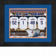 New York Mets Personalized Locker Room 13 x 16 Framed Photograph