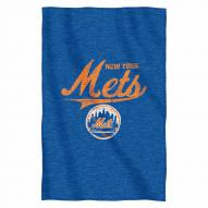 New York Mets Script Sweatshirt Throw Blanket
