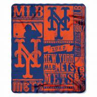 New York Mets Strength Fleece Blanket