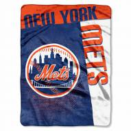 New York Mets Strike Raschel Throw Blanket
