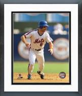 New York Mets Wally Backman Action Framed Photo