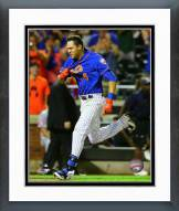New York Mets Wilmer Flores 2015 Action Framed Photo