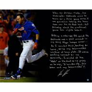 """New York Mets Wilmer Flores Citi Field Story Signed 16"""" x 20"""" Photo"""