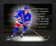 New York Rangers Brian Leetch Framed Pro Quote