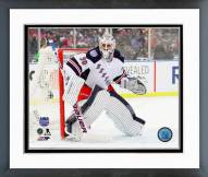 New York Rangers Henrik Lundqvist 2014 NHL Stadium Series Framed Photo