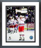 New York Rangers Mark Messier with 1994 NHL Stanley Cup Trophy Framed Photo