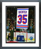 New York Rangers Mike Richter Jersey Retirement Ceremony Framed Photo