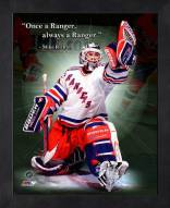 New York Rangers Mike Richter Framed Pro Quote