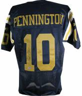 New York Titans Chad Pennington Signed Throwback Authentic Jersey