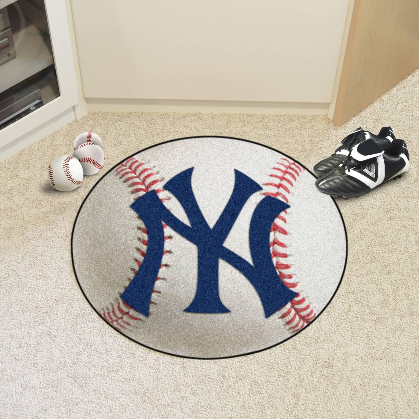 Baseball Rug: New York Yankees Baseball Rug