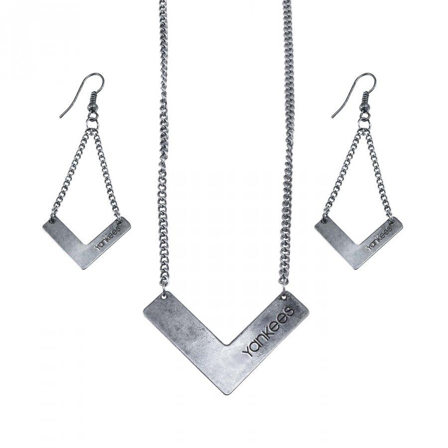 New York Yankees Chevron Jewelry Set