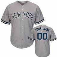 New York Yankees Personalized Replica Road Baseball Jersey
