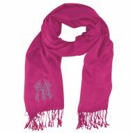 New York Yankees Pink Pashi Fan Scarf