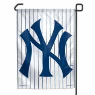 "New York Yankees Pinstripes 11"" x 15"" Garden Flag"