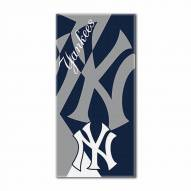 New York Yankees Puzzle Beach Towel