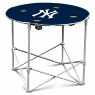 New York Yankees Round Folding Table