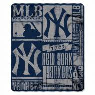 New York Yankees Strength Fleece Blanket
