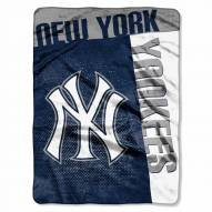 New York Yankees Strike Raschel Throw Blanket