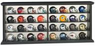 NFL 32 Piece Helmet Set with Wood Display Case
