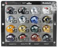NFL NFC 16-Piece Conference Pocket Size Helmet Set
