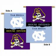 North Carolina/East Carolina 2-Sided House Divided Banner