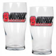 North Carolina State Wolf Pack 20 oz. Pub Glass - Set of 2
