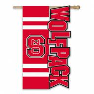 "North Carolina State Wolfpack 28"" x 44"" Applique Flag"
