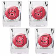 North Carolina State Wolfpack 4 Piece Square Shot Glasses